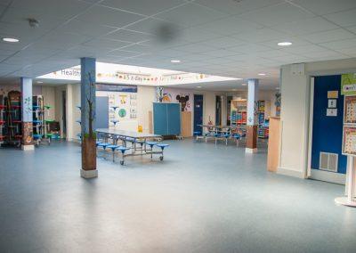 Dining/hard floor area adjacent to lower school hall