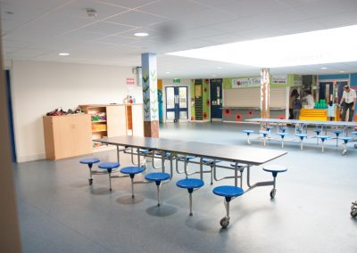 Dining/hard floor area adjacent to lower school hall