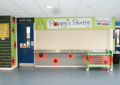 Refreshments area adjacent to lower school hall