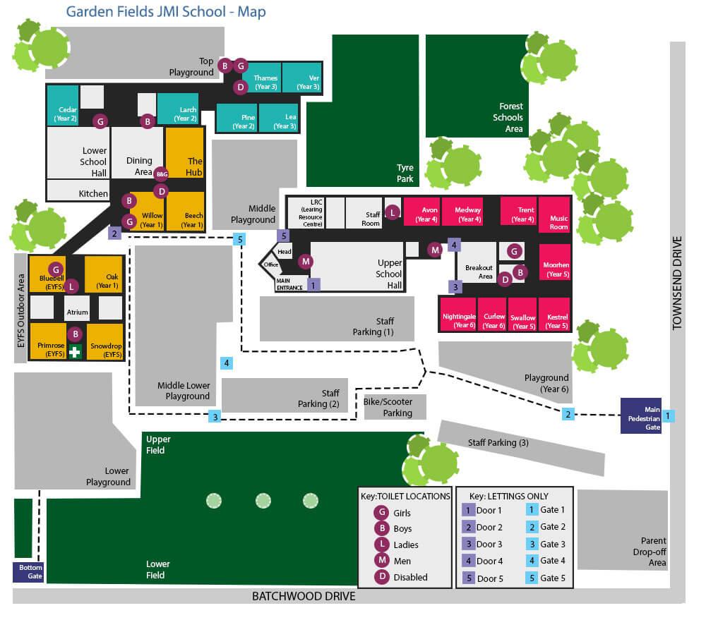 plan of school